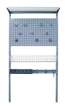 locboard wall mounted wire shelving 500 lb 1785. Black Bedroom Furniture Sets. Home Design Ideas