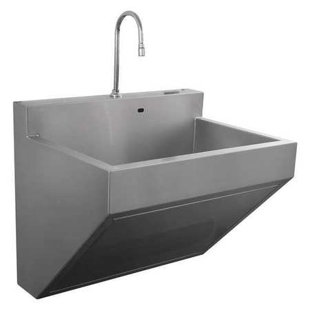 304 Stainless Steel Scrub Sink, With Faucet, Bowl Size 17 1/4