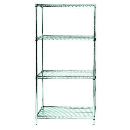 Zoro Select Wire Shelving Unit, 36in.Wx18in.Dx74in.H WR74-1836S ...