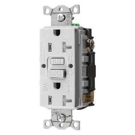 hubbell wiring device kellems gfci receptacle 20a 125vac. Black Bedroom Furniture Sets. Home Design Ideas