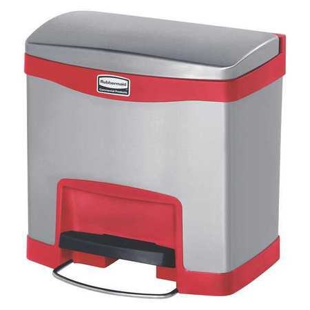 Rubbermaid 4 gal red stainless steel rectangular wastebasket 1901983 - Rd wastebasket ...