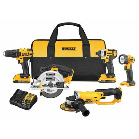 Cordless Combination Kit,Li-Ion,20.0V