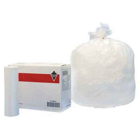 Portasafe 45 gal Extra Heavy Trash Bags Clear Coreless Roll of 150