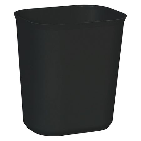3.5 gal.  Rectangular  Black  Trash Can