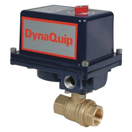"1-1/2"" FNPT Brass Electronic Ball Valve 2-Way"