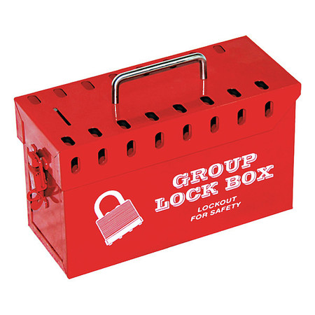 Condor Group Lockout Box, Red, 10 in. W 48LU40 | Zoro.com