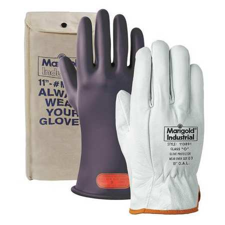 Marigold Electrical Gloves Leather Black 10 Cl0b 11 Quot Kit