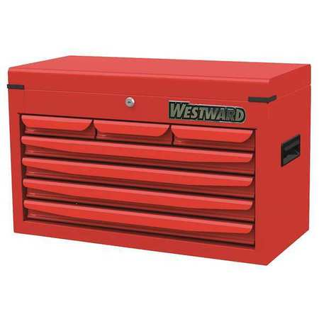 Link To Product Top Chest, 7 Drawers, Red, 16 In. H