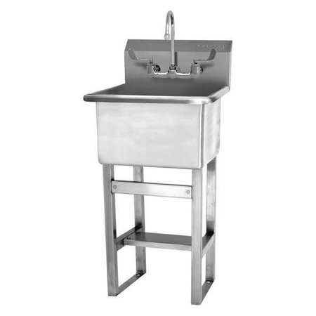 SaniLav Stainless Steel Utility Sink With Faucet Bowl Size 18 x