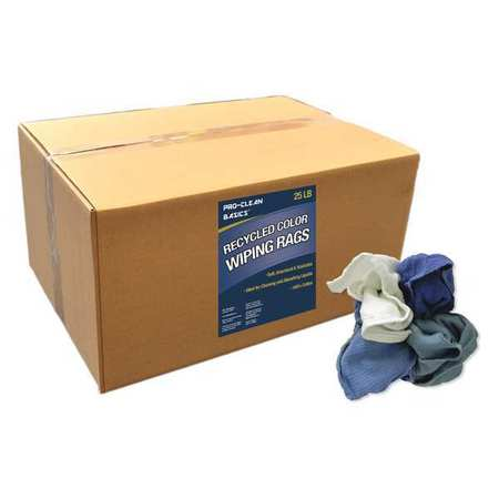 recycled woven wiping rags 25 lb box - Box Of Rags