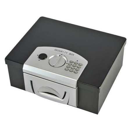 Portable Safe, Steel, Black