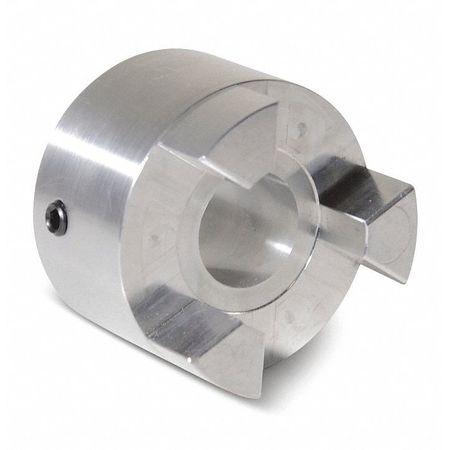 """Jaw Coupling Hub, AL075, Aluminum, 1/2"""", NK"""