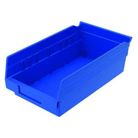 Superbe Link To Product Shelf Bin, Blue, 128 Cu. In.Vol Capacity,