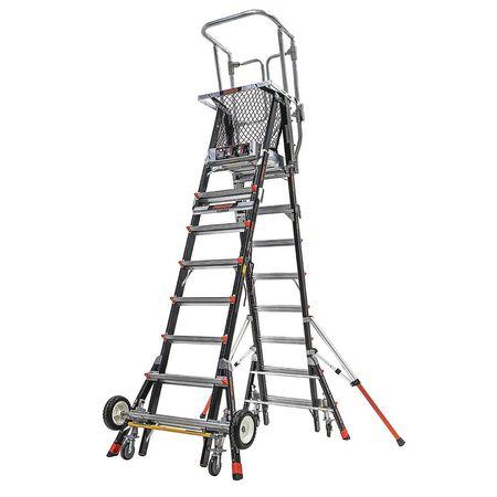 Little Giant Adjustable Cage Platform Ladder 14 Ft
