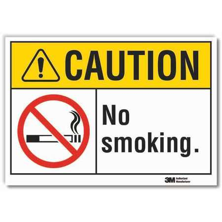 Lyle No Smoking Sign 7 In H Text And Symbol Lcu3 0074 Rd10x7