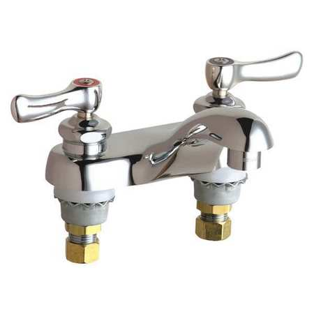 Chicago Faucets Lavatory Sink Brass 2 Holes Ada Compliant 802 Ve66abcp