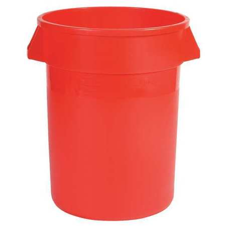 Red Plastic Round Food-Grade Waste Container  sc 1 st  Zoro Tools & Rubbermaid 20 gal. Red Plastic Round Food-Grade Waste Container ...