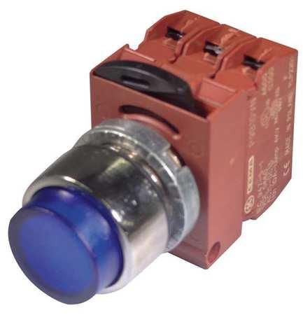 Illum Push Button Operator,22mm,Blue