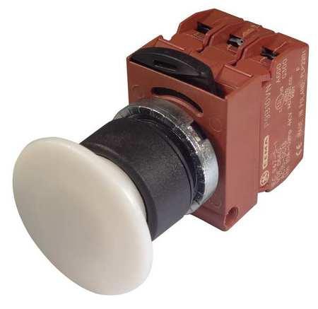 Illum Push Button Operator,22mm,White