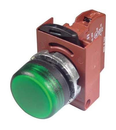 Pilot Light,Refracted,Green,120V,Plastic