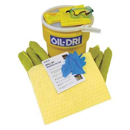 49EL42 Spill Kit, Yellow, 10 gal.