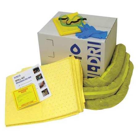 49EL43 Spill Kit Refill, Yellow, 10 gal.