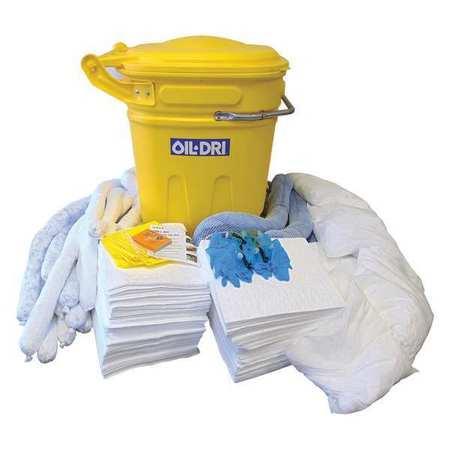 49EL46 Spill Kit, White, 100 gal.