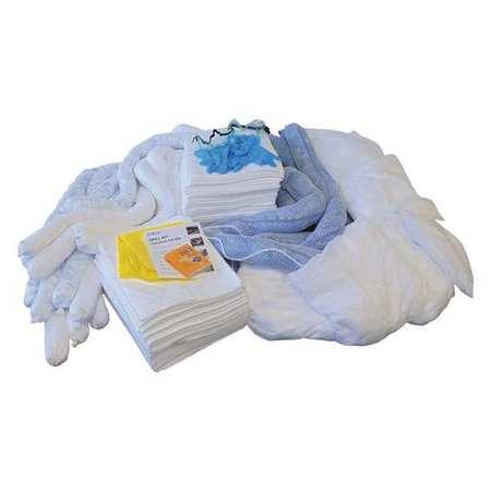 49EL47 Spill Kit Refill, White, 100 gal.