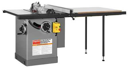 Cabinet Table Saw, 12 in. Blade -  DAYTON, 49G996
