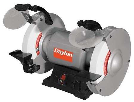 Dayton Bench Grinder 1 3 Hp 120v 5 8 Arbor 49h004