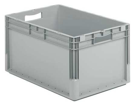 Solid Wall Stacking Container, 24x16x13, Gray