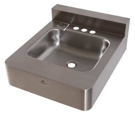 Dura Ware Silver Bathroom Sink Stainless Steel Wall Mount Bowl Size 14 X 12 X 5 1953 1 09