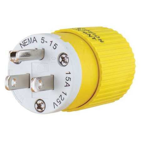 Bryant Straight Blade Plug, Wiring Style Standard, Antimicrobial No ...