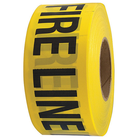 Barricade Tape, Yellow/Black, 1000ft x 3In