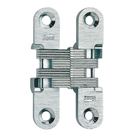 Hinge, Invisible, Satin Chrome, 2 3/8  In