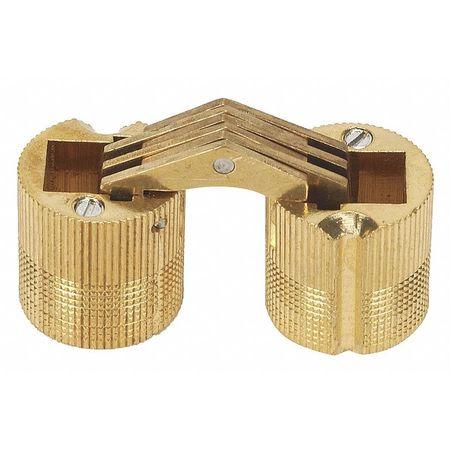 Hidden Barrel Hinge, Brass, 11/16x45/64 In