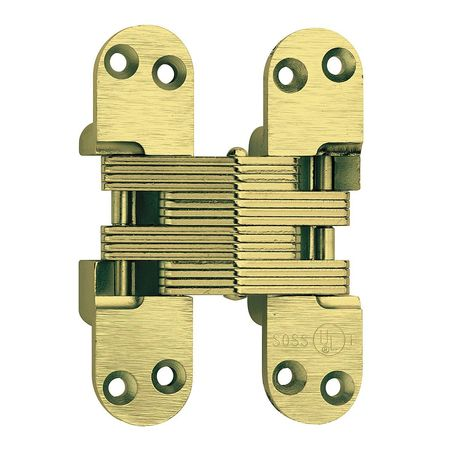 Hinge, Fire-Rated, Satin Brass, 4 5/8 In