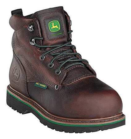 Work Boots, Stl, Met Grd, Mn, 9.5W, Brn, PR