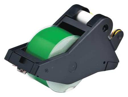 Tape, White/Green, 90 ft. L, 2-1/4 In. W