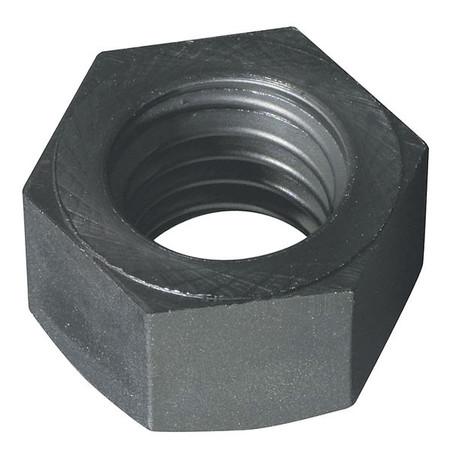 #10-24 Black Nylon Coat Finish Machine Screw Hex Nuts,  25 pk.