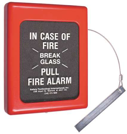 Fire Alarm Break Glass Cover, 6.5 x 9 In