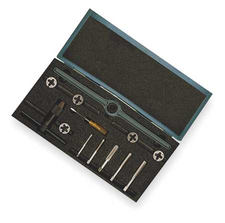 Tap and Die Set, 1/4 to 1/2 In, 12 pc