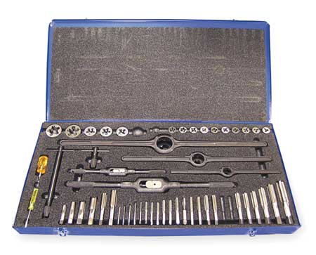 Tap and Die Set, 50 pc, High Speed Steel