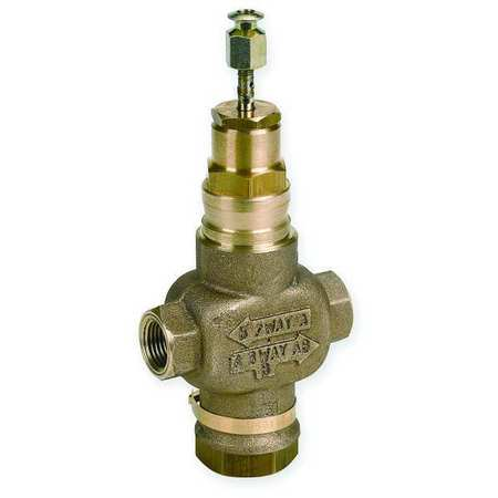 Two-Way Globe Valve, 1 1/2 In NPT, 29 Cv