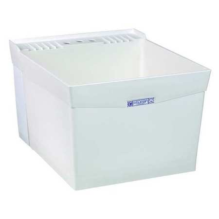 "Laundry Tub,  White,  Wall Mount  Bowl Size 24"" x 20"""