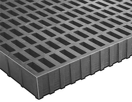 High Load Molded Grating, Span 4 ft.