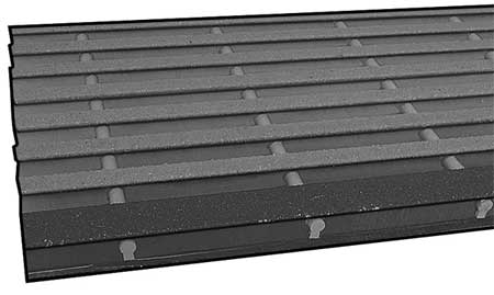 Stair Tread, ISOFR, 1 1/2 x 10 1/2 In, 3 Ft
