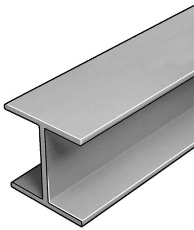 W-Beam, ISOFR, Gray, 6x6 In, 1/4 In Th, 10 Ft