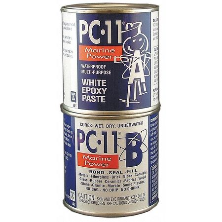 Epoxy, Marine Grade, White, 1lb, Plastic Jar