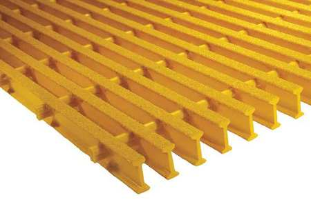 Industrial Pultruded Grating, Span 6 ft.